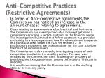 anti competitive practices restrictive agreements