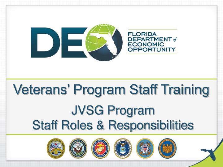 veterans program staff training jvsg program staff roles responsibilities n.