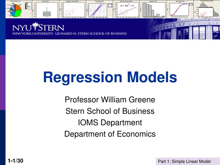 regression models n.