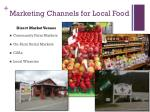 marketing channels for local food
