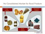 no consolidated market for rural products