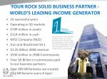 your rock solid business partner world s leading income generator