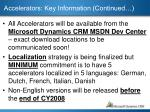 accelerators key information continued1