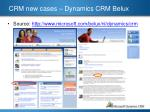 crm new cases dynamics crm belux