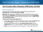 the forrester wave enterprise crm suite