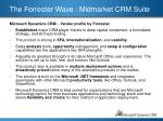 the forrester wave midmarket crm suite3