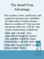 the small firm advantage1