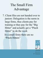 the small firm advantage4