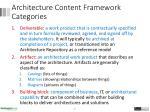 architecture content framework categories1