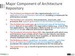 major component of architecture repository