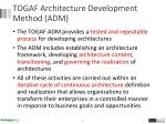 togaf architecture development method adm