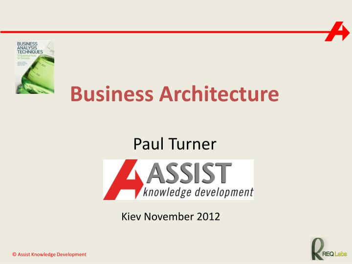 business architecture n.