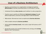 uses of a business architecture