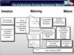 ea and business process management maturity