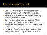africa is resource rich