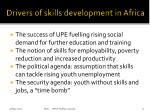 drivers of skills development in africa