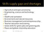 skills supply gaps and shortages