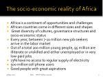 the socio economic reality of africa