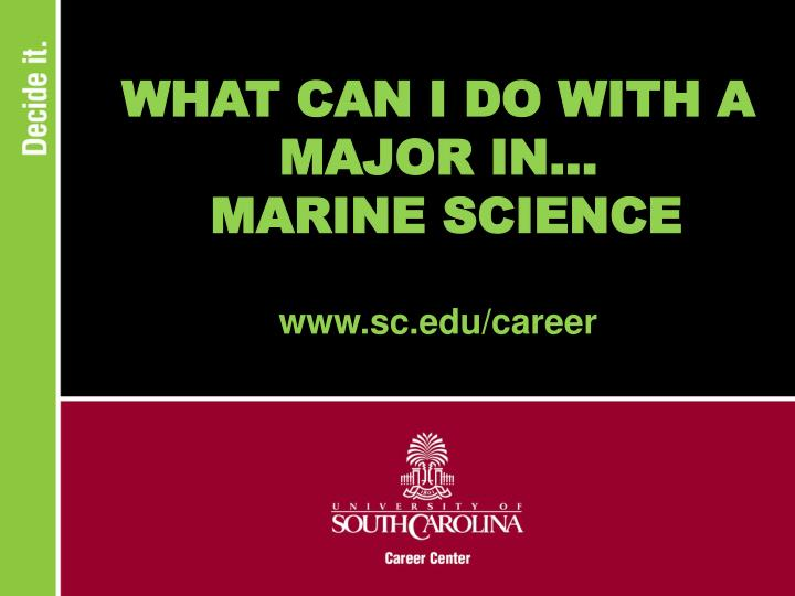 What can i do with a major in marine science