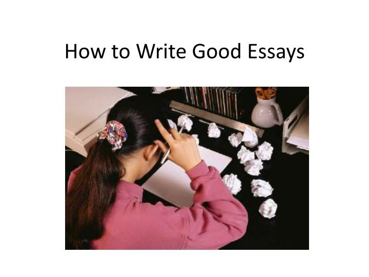 how to write good essays n.