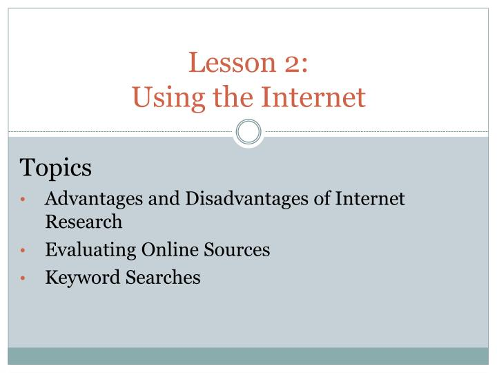 disadvantages of using the internet for research