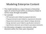 modeling enterprise content