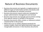 nature of business documents