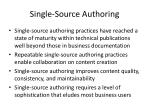 single source authoring