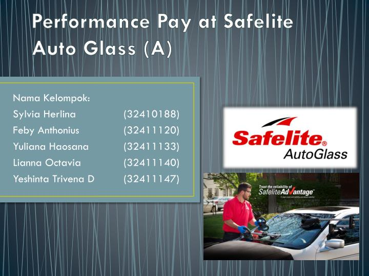 performance pay at safelite auto glass a n.