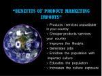 benefits of product marketing imports