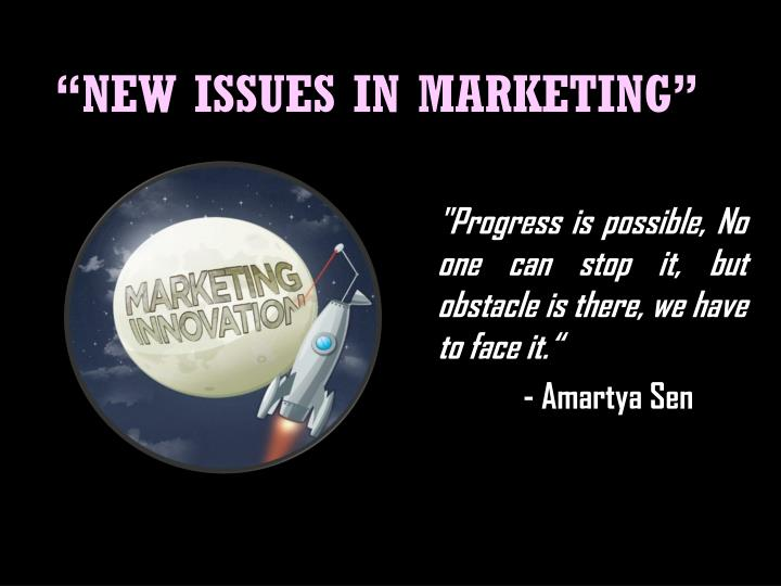 new issues in marketing n.