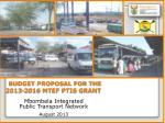 budget proposal for the 2013 2016 mtef ptis grant