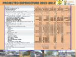 projected expenditure 2013 2017