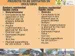 projects to be initiated in 2013 2014