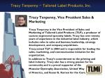 tracy tenpenny tailored label products inc