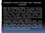 penempatan posisi strategis dari teknologi internet2