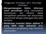 penggunaan strategis dari teknologi informasi1