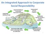 an integrated approach to corporate social responsibility