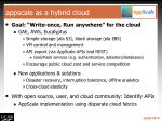 appscale as a hybrid cloud