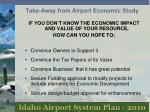 take away from airport economic study