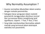 why normality assumption