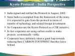 kyoto protocol india perspective