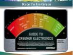 race to go green