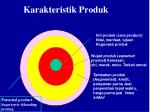 karakteristik produk