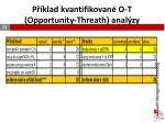 p klad kvantifikovan o t opportunity threath anal zy