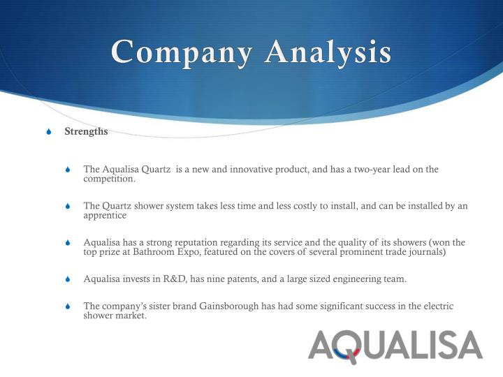 aqualisa quartz simply better shower 1 1 situation analysis 11 customers shower buyers mainly fall into one of the three pricing segments: • premium segment: they buy in showrooms, value.