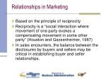 relationships in marketing
