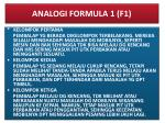 analogi formula 1 f1
