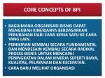 core concepts of bpi