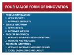 four major form of innovation